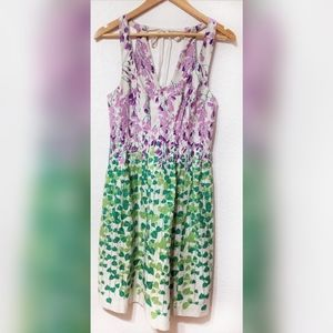 Maeve Wisteria Purple Flower and Ivy Cotton Dres